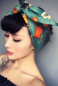 Pretty bow tie from a head scarf