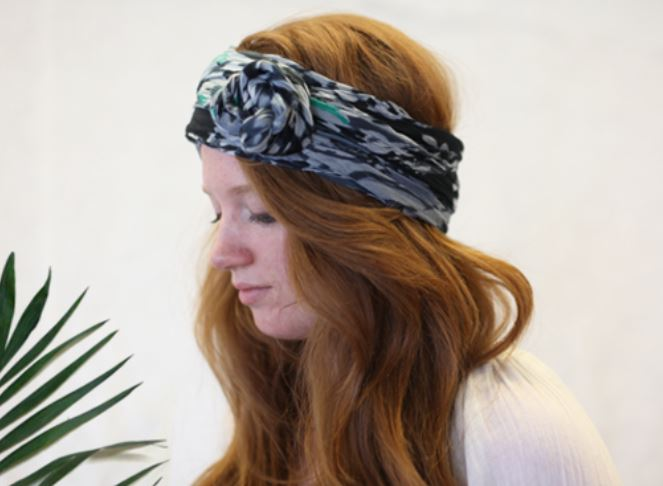 Rosette head scarf and turban