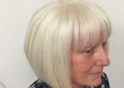 Vicky's handmade wig by Chris Baguley