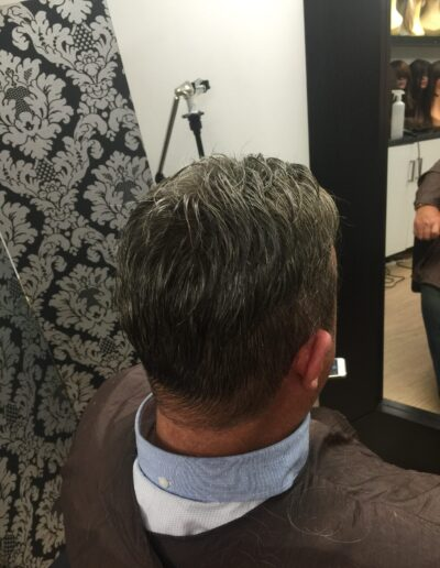 custom made male wig by Baguley's of Cheshire