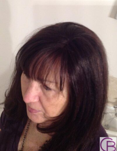 Ladies wigs made with human hair by Baguley's of Cheshire