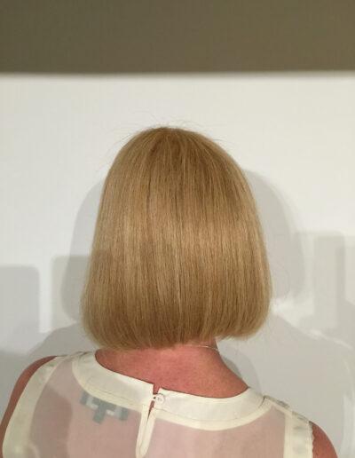 back view of ladies wig