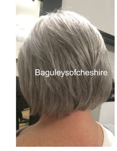 back view of ladies hair system