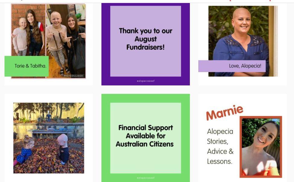 Australia Alopecia Areata Foundation Inc. Instagram profile